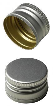PP31,5 Schraubverschluss silber - ALU mit Gewinde