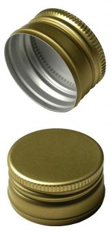 PP31,5 Schraubverschluss gold - ALU mit Gewinde