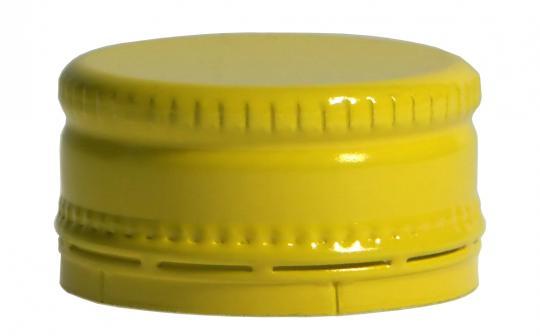 Schraubverschluss kurz MCA 28 x 15 gelb Neutral ohne Druck !!!
