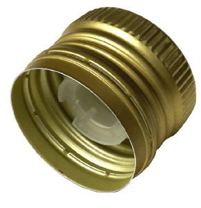 PP31,5 Schraubverschluss gold - ALU mit Ausgießer, Gewinde und Sicherungsring