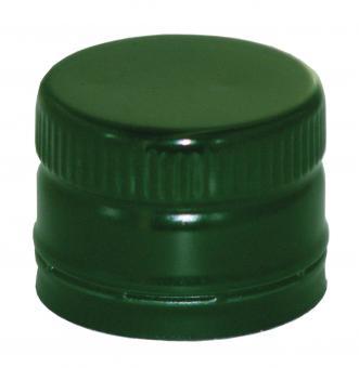 PP31,5 Schraubverschluss grün - ALU mit Ausgießer & Gewinde (hart)