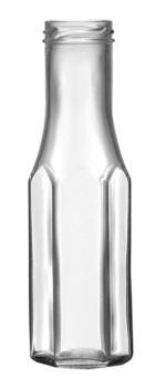 Weithalsflasche 6eck 256ml weiß TO43 Karton à 84 Stück