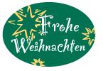 Schmucketikett Frohe Weihnachten 46x 32mm - grün matt Selbstklebend Farbe: silber/gold Packung á 250 Stück auf Rolle
