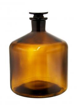 Bürettenflasche 2300ml braun inkl. geschliffenem Glasverschluss