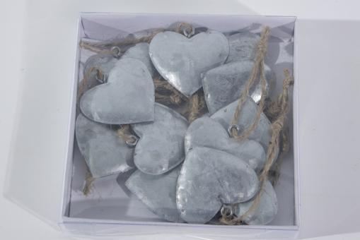 Herz Anhänger aus Metall - 3,8cm 1 Box á 12 Stück