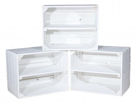 Weiße Kiste für Schuh- und Bücherregal 50x40x30cm SchuhWEI