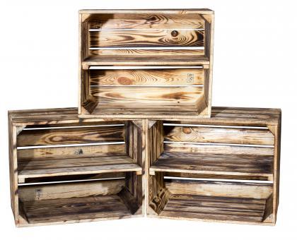Geflammte Kiste für Schuh-und Bücherregal 50x40x30cm Schuhgef