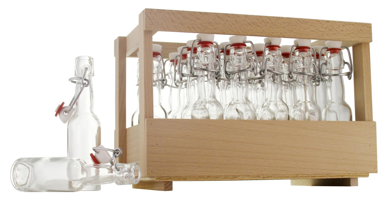 flaschenhandel giehl holzsteige mit 24 x kropfhals 40ml inkl b gelverschluss unmontiert inkl. Black Bedroom Furniture Sets. Home Design Ideas