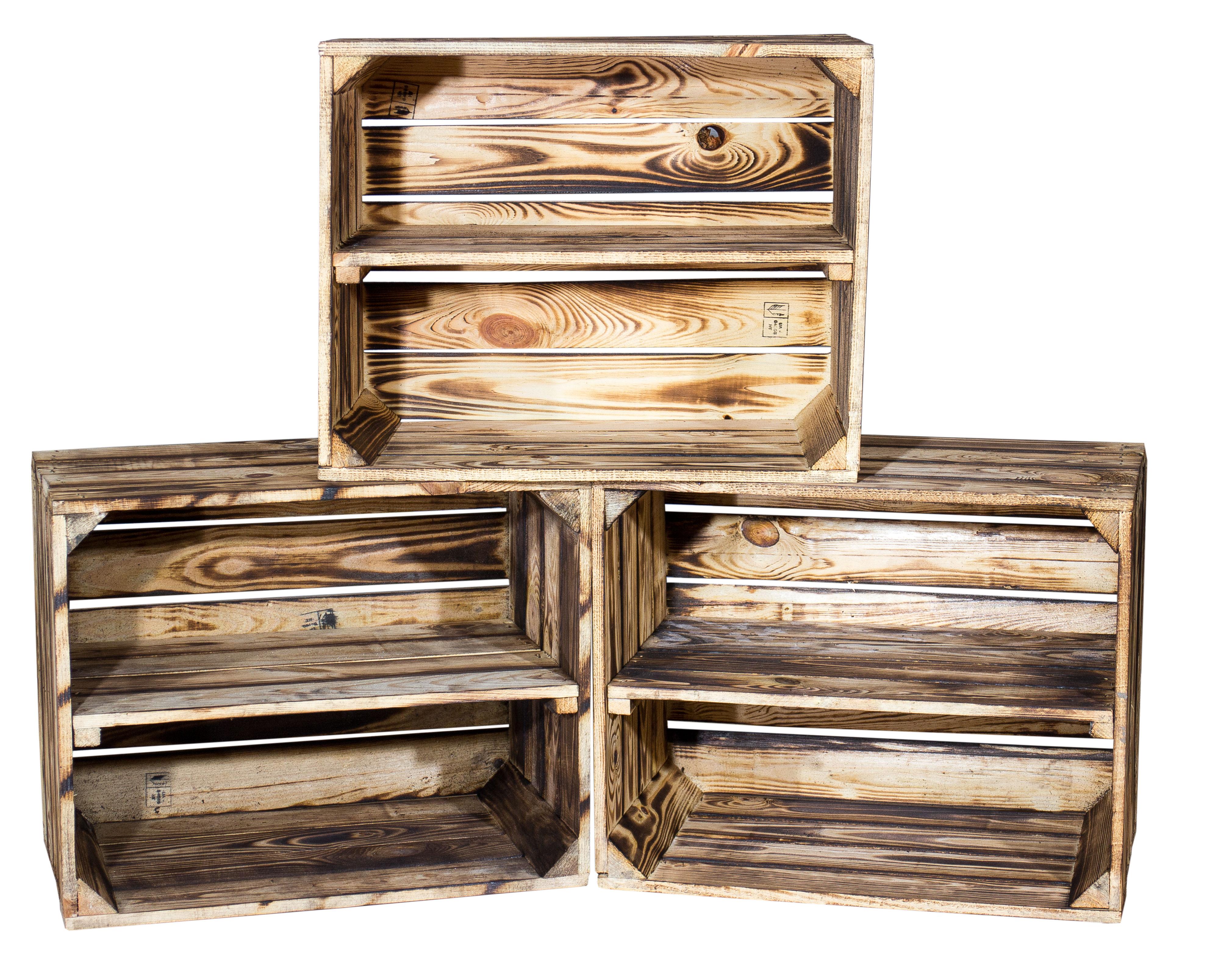 flaschenhandel giehl geflammte kiste f r schuh und b cherregal 50x40x30cm schuhgef online kaufen. Black Bedroom Furniture Sets. Home Design Ideas